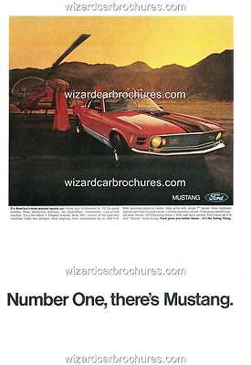 1970 Ford Mustang Mach 1 A3 Poster Ad Sales Brochure Mint Advertisement Advert