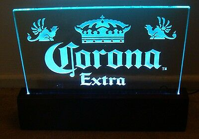 Corona Extra Etched Backbar Light Display Sign New