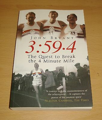 Sir Roger Bannister Authentic & Genuine Hand Signed Book The 4 Minute Mile + Coa