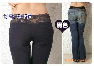 Women Lady underwear underpants lace waist safety tights pantyhose Pants