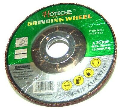 """Hoteche 10 Pc 4-1/2"""" X 1/4"""" X 7/8"""" Metal Grinding Wheel For Angle Grinder"""