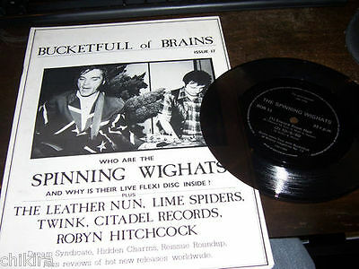 Bucketfull Of Brains # 17 Spining Wighats Leather Nun Twink + Free Flexi Disc 7""
