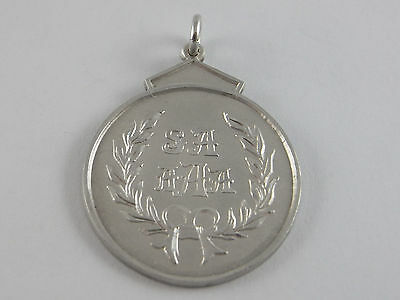 Antique Sterling Silver Wrestling Fob Medal 1913 made by Perryman
