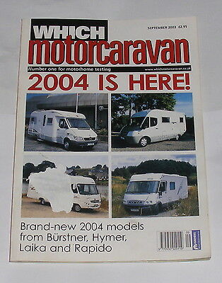 Which Motorcaravan - 2004 Is Here - September 2003
