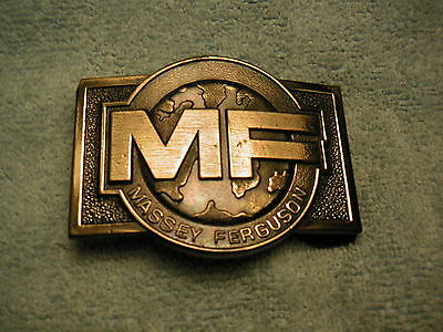 Massey Ferguson Belt Buckle Featuring MF's Global Image Logo  about 1978