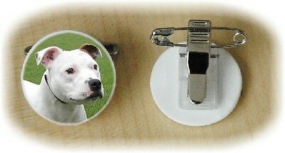 Staffordshire Bull Terrier Dog Fine Bone China Ring Clip No 4 by Starprint