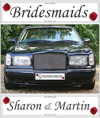 LP0461 Just Married Auto Car License Plate Wedding Decor Gift Chic Sign