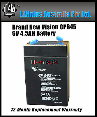 New Vision 6V 4.5AH CP645 SLA Rechargeable Battery High Rate Toy Electric  4.0Ah