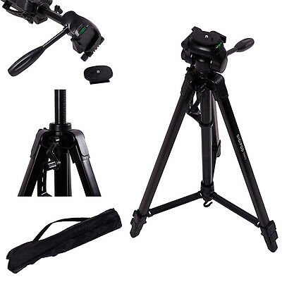 "NEW 66"" Aluminum Tripod Mount Stand for Canon Sony Panasonic Camera Camcorder"