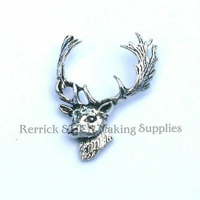 One Pewter Badge For Walking Stick Making Large Stag