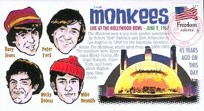 COVERSCAPE computer designed 45th anniversary Monkees at Hollywood Bowl cover