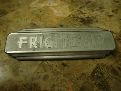 Vintage 1930's  FRIGITEMP badge Label Industrial Used Refridgerator