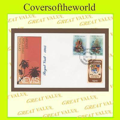 Nevis 1985 Caribbean Royal Visit surcharge stamps  First Day Cover