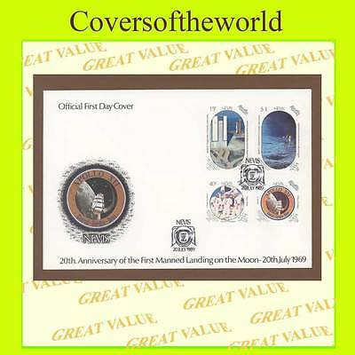 Nevis 1989 20th anniversary of Moon landing set First Day Cover