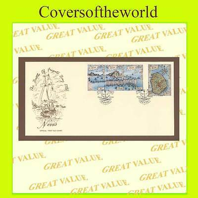 Nevis 1989 Battle of Frigate set First Day Cover