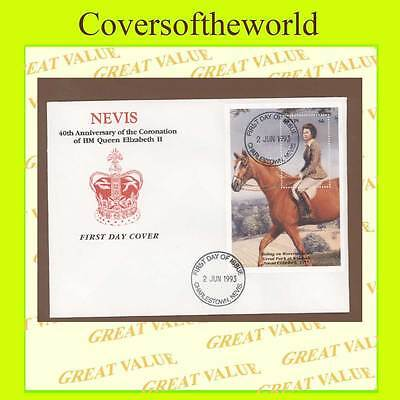Nevis 1993 Coronation Anniversary miniature sheet First Day Cover