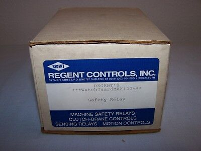 Regent Controls Watchguardmax120 Safety Relay  New In Box
