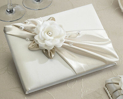 Taupe Rose Guest Book and Pen Set Wedding Supplies Wedding Book