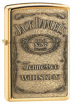 Zippo Lighter Jack Daniel's Brass Emblem Engraved Free