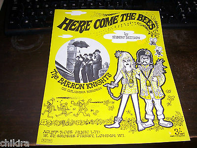 """Sheet Music:  The Barron Knights """"here Come The Beest"""" 1967 Uk Sheet Music"""