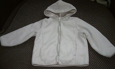 """""""Next"""" Girl's Grey Faux Suede Coat 6 years"""
