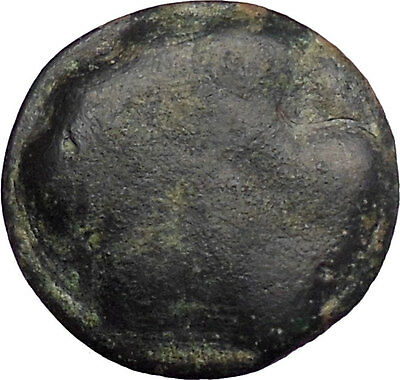 SELINOS in SICILY 450BC Gorgoneion Selinon Leaf  Ancient Greek Coin i28240