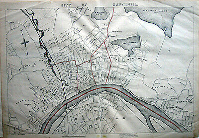 "1891 City of HAVERHILL, MASS. * LARGE 19½ x 28"" Original atlas Map"