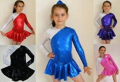 All Sizes/Colours Skating dress/Skirted-Leotard/Twirling Age 5/6/7/8/9/10/11/12