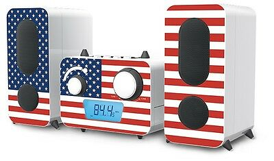 Stereo Musik Anlage CD Spieler Radio USB MP3 Flaggen Designs Big Ben MCD 11 Flag