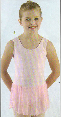 NWT Main Street pink princess seam tank ballet dress w/ mesh skirt Intermediate