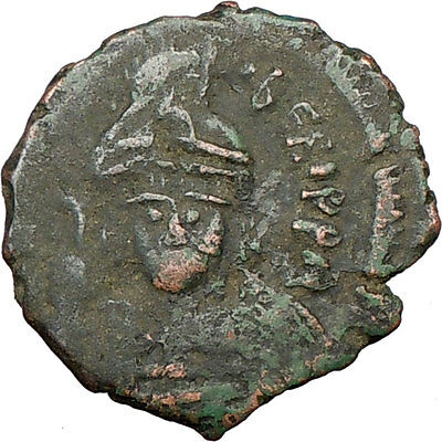 MAURICE TIBERIUS Large Rare Ancient BYZANTINE Coin 582AD Bust facing  i17584