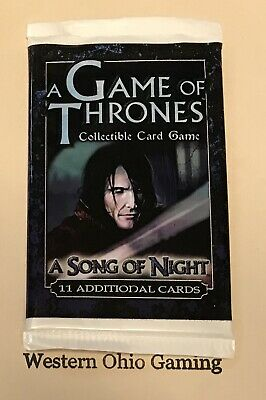 A Game of Thrones A Song of Night Booster Pack from Box NEW Trading Card Game