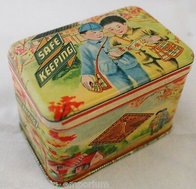 Small Size Treasure Storage Tin Safe Keeping By Blue Q Jewellery Box Vintage