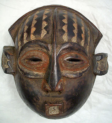 Antique African Hand Carved Wooden Mask
