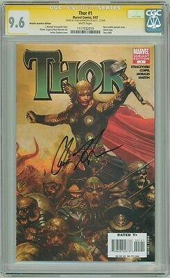 Thor #1 Variant Cgc 9.6 Signature Series Signed Chris Hemsworth Avengers Movie