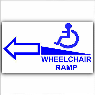 Wheelchair Ramp Access Sticker Sign-Disabled,Disability,Mobility- Left Arrow