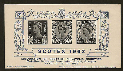 Exhibition Sheet : 1962 Scotex