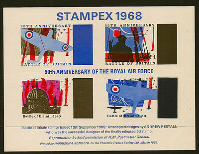 Exhibition Sheet : 1968 Stampex