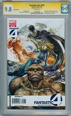 Fantastic Four #554 Variant Cgc 9.8 Signature Series Signed Stan Lee Movie