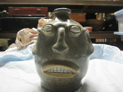 Jim Bozeman Face Jug Edgefield Style 8 inches Tall from 2005 Athens, Ga