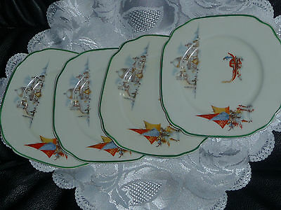 Rialto ,empire England .empire Ware Stoke-On-Trent.all  4 Butter Plates
