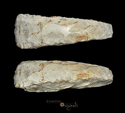 MASSIVE DANISH NEOLITHIC STONE AGE THICK BUTTED AXE tool flint axehead 025035