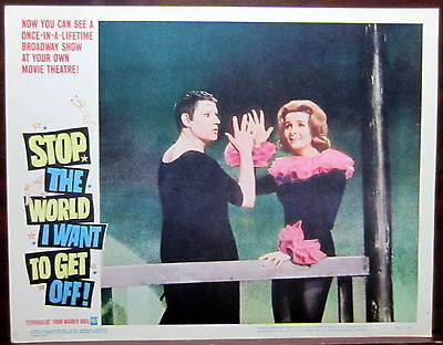 Stop the World I Want to Get Off 2 Original 1966 Lobby Cards Theater Mime