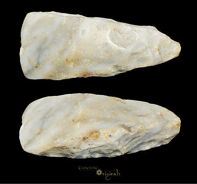 DANISH NEOLITHIC STONE AGE THICK BUTTED AXE axehead tool 025038