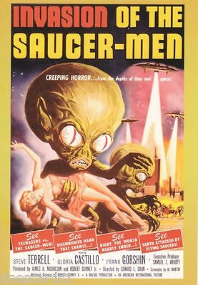 Vintage Sci-Fi Horror Movie Poster Promo Card # 2 Invasion of the Saucer Men