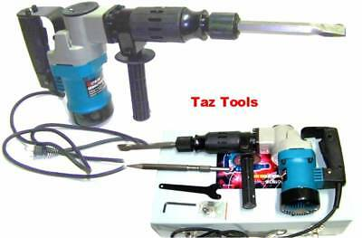 "Electric Demolition Hammer Drill H-D 1-1/2"" with Punch and Chisel Rotary Drill"