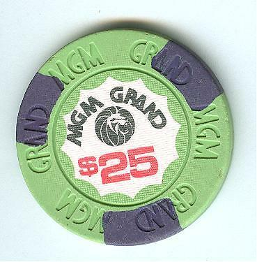 $25 Mgm Grand Casino Chip--Rare Old Mgm
