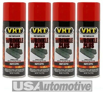 4X Vht Red Wrinkle Finish Spray Paint Sp204