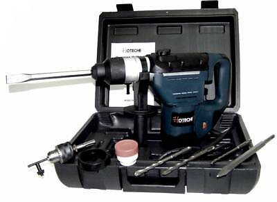 """1-1/2"""" Electric Demolition Hammer Drill 1.5 Hp + 10 Pc Sds Drill Bits"""