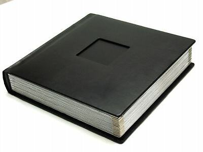 Professional 10x10 BLACK Silver Photo Album With 30 Mats  (Engraving Available)